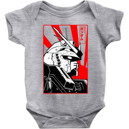 Gundam Head Baby Bodysuit Designed By Paísdelasmáquinas