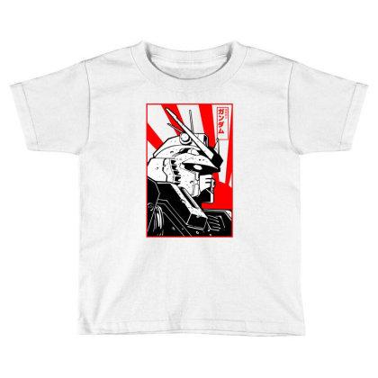 Gundam Head Toddler T-shirt Designed By Paísdelasmáquinas