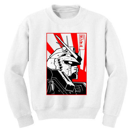Gundam Head Youth Sweatshirt Designed By Paísdelasmáquinas