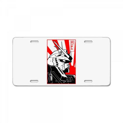 Gundam Head License Plate Designed By Paísdelasmáquinas