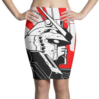 Gundam Head Pencil Skirts Designed By Paísdelasmáquinas