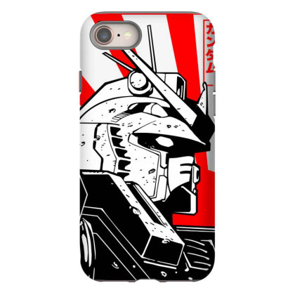 Gundam Head Iphone 8 Case Designed By Paísdelasmáquinas