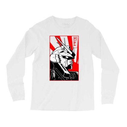 Gundam Head Long Sleeve Shirts Designed By Paísdelasmáquinas