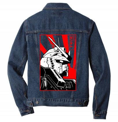 Gundam Head Men Denim Jacket Designed By Paísdelasmáquinas