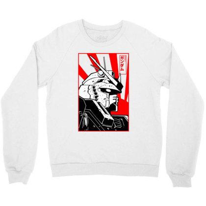 Gundam Head Crewneck Sweatshirt Designed By Paísdelasmáquinas