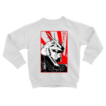 Gundam Head Toddler Sweatshirt Designed By Paísdelasmáquinas