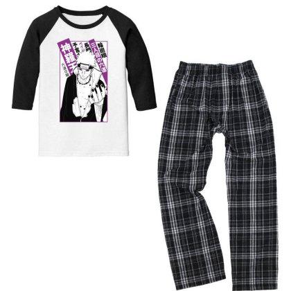 Pain Kanji Youth 3/4 Sleeve Pajama Set Designed By Paísdelasmáquinas