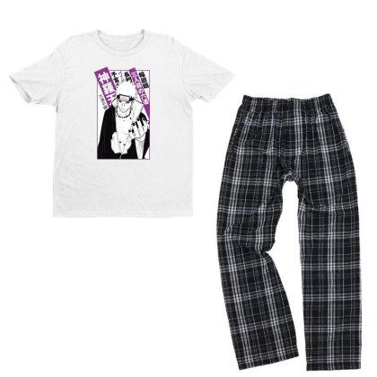 Pain Kanji Youth T-shirt Pajama Set Designed By Paísdelasmáquinas