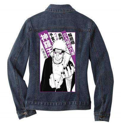 Pain Kanji Ladies Denim Jacket Designed By Paísdelasmáquinas