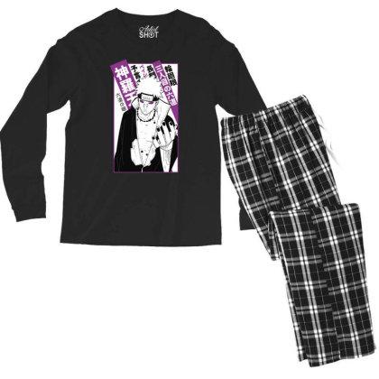 Pain Kanji Men's Long Sleeve Pajama Set Designed By Paísdelasmáquinas