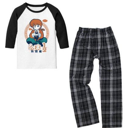 Ranma Youth 3/4 Sleeve Pajama Set Designed By Paísdelasmáquinas