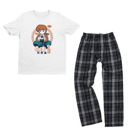 Ranma Youth T-shirt Pajama Set Designed By Paísdelasmáquinas