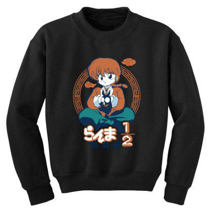 Ranma Youth Sweatshirt Designed By Paísdelasmáquinas