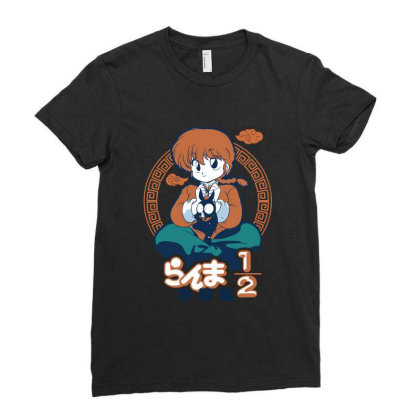Ranma Ladies Fitted T-shirt Designed By Paísdelasmáquinas