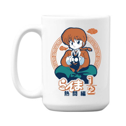 Ranma 15 Oz Coffe Mug Designed By Paísdelasmáquinas