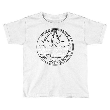 Beach Line Toddler T-shirt Designed By Quilimo