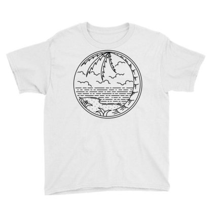 Beach Line Youth Tee Designed By Quilimo