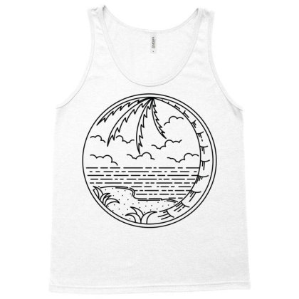 Beach Line Tank Top Designed By Quilimo