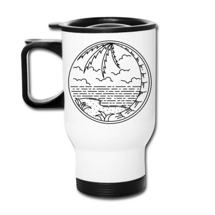 Beach Line Travel Mug Designed By Quilimo