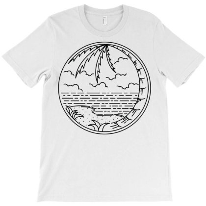 Beach Line T-shirt Designed By Quilimo