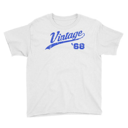 1968 Vintage Birthday Youth Tee Designed By Coolkids