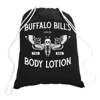 Buffalo Bill's Body Lotion   Horror Movie   Distressed Vintage Drawstring Bags Designed By G3ry