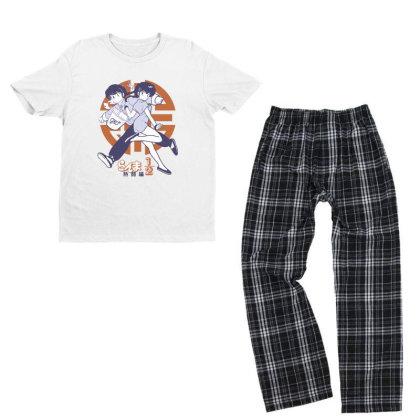Ranma 2 Youth T-shirt Pajama Set Designed By Paísdelasmáquinas