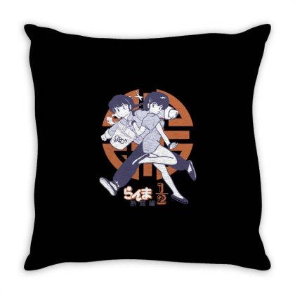 Ranma 2 Throw Pillow Designed By Paísdelasmáquinas