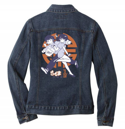 Ranma 2 Ladies Denim Jacket Designed By Paísdelasmáquinas