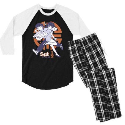 Ranma 2 Men's 3/4 Sleeve Pajama Set Designed By Paísdelasmáquinas
