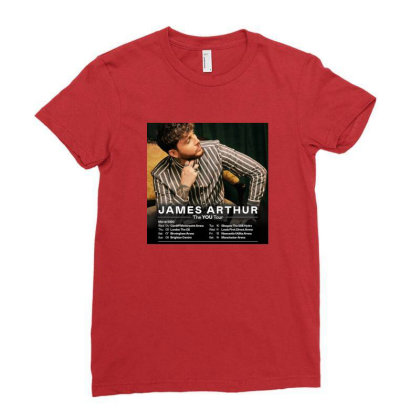 Tour James Katess Arthur Ladies Fitted T-shirt Designed By Devanojohnsantos