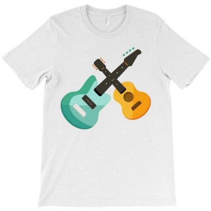 Music Of Gitar T-shirt Designed By Oht