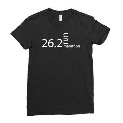 Marathon T Shirt 26 Ladies Fitted T-shirt Designed By Tompa Shirt