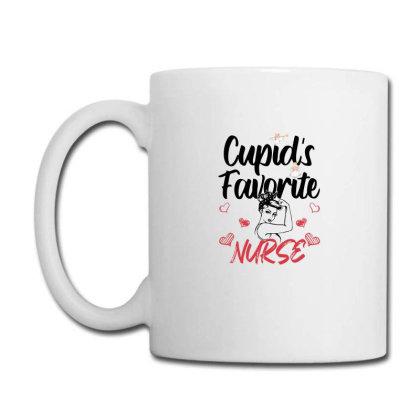 Cupid's Favorite Nurse For Light Coffee Mug Designed By Sengul