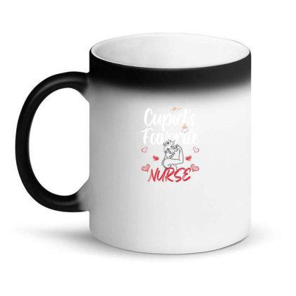 Cupid's Favorite Nurse For Dark Magic Mug Designed By Sengul