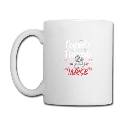 Cupid's Favorite Nurse For Dark Coffee Mug Designed By Sengul