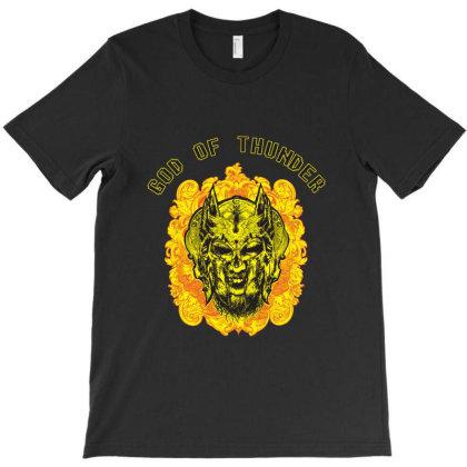 God Of Thunder T-shirt Designed By Redline77