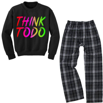 Think To Do Youth Sweatshirt Pajama Set Designed By Prabhat_creation