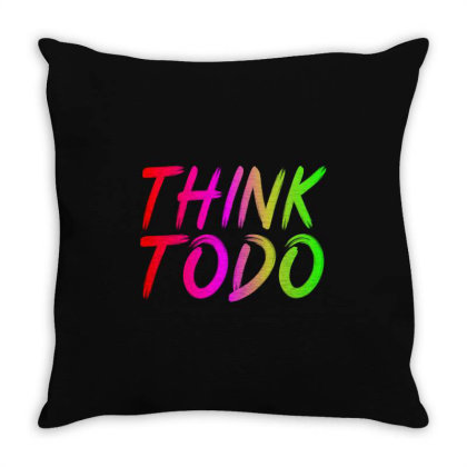 Think To Do Throw Pillow Designed By Prabhat_creation