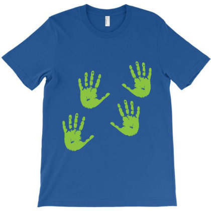 Handprints T-shirt Designed By Redline77