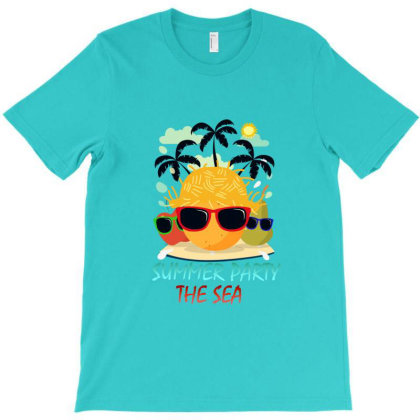 Summer Party The Sea T-shirt Designed By Redline77