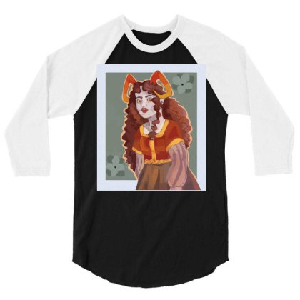 Aradia Megido But Shes In A Mideval Inspired Dress Graphic 3/4 Sleeve Shirt Designed By Coolkids