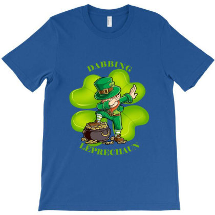 Dabbing Leprechaun T-shirt Designed By Fashionfree