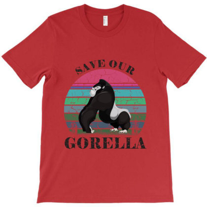 Save Our Gorella T-shirt Designed By Fashionfree