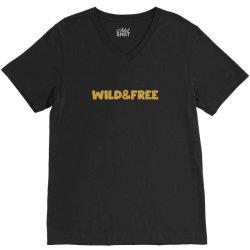 wild & free V-Neck Tee | Artistshot