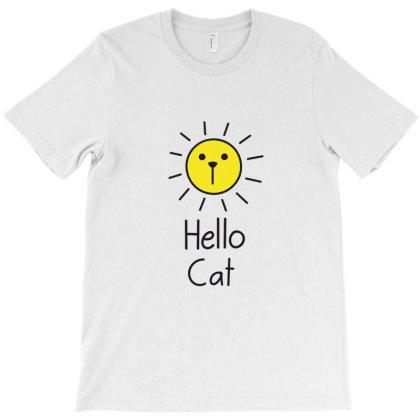 Hello Cat T-shirt Designed By Estore
