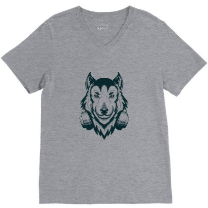 Wolf V-neck Tee Designed By Estore