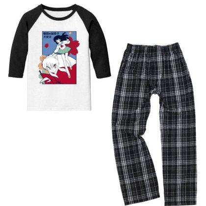 Inuyasha Youth 3/4 Sleeve Pajama Set Designed By Paísdelasmáquinas