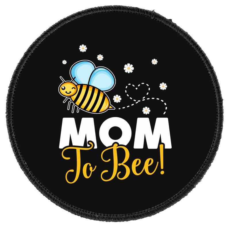 Mom To Bee Baby Boy Round Patch | Artistshot