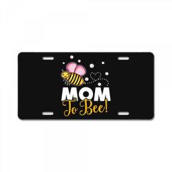 mom to bee baby girl License Plate | Artistshot